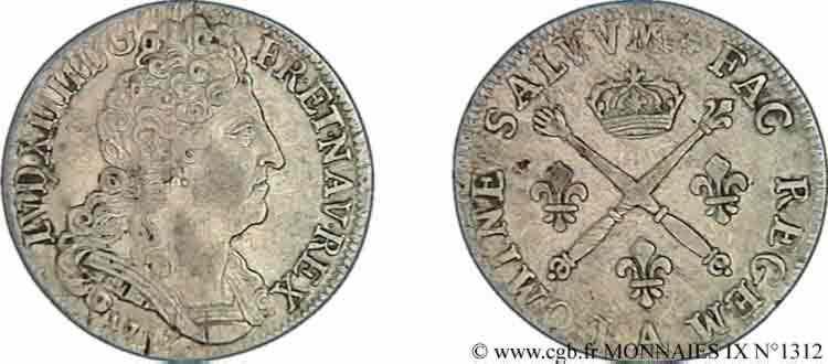 Monnaie louis xiv - Sol en piece de monnaie ...